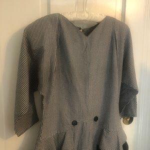 Vintage Dresses - Vintage 90's Houndstooth 9-5 Party Dress